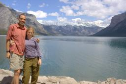 Us at Lake Minnewanka