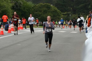 Jordan running to the finish